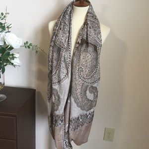 Beige/Brown/Taupe Indian inspired Infinity Scarf